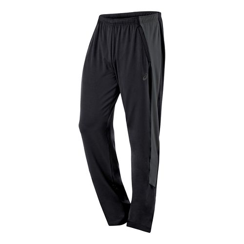 Mens ASICS Thermopolis Full Length Pants - Black/Dark Grey M-T