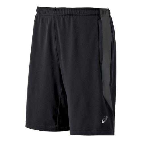 Men's ASICS Thermopolis Unlined Shorts - Black/Dark Grey XXL