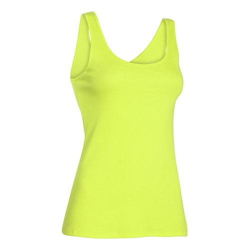Womens Under Armour Double Threat Tank Technical Tops - X-Ray M