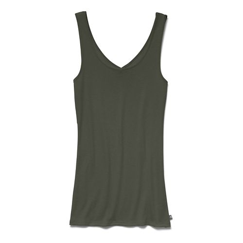 Womens Under Armour Double Threat Tank Technical Tops - Faded Ink M