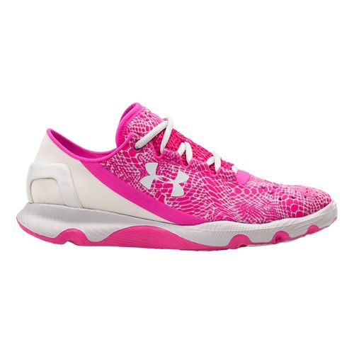 Kids Under Armour GGS SpeedForm Apollo Running Shoe - Tropic Pink/Aluminum 7Y