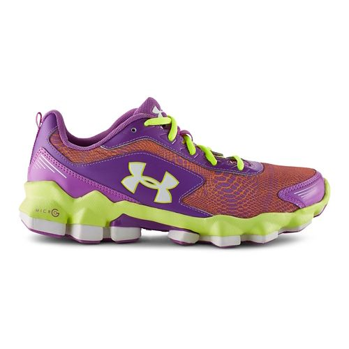 Kids Under Armour GGS Micro G Nitrous Running Shoe - Exotic Bloom 7