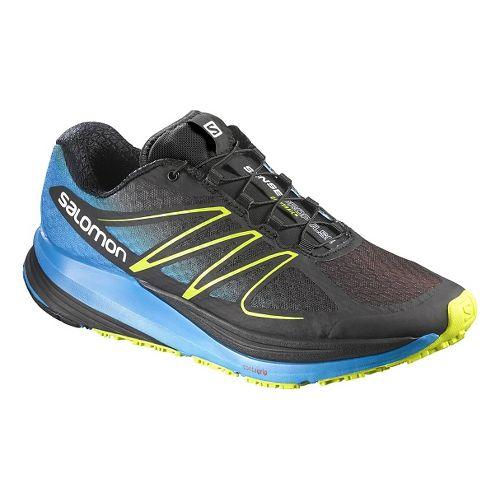 Mens Salomon Sense Propulse Trail Running Shoe - Black/Blue 8.5