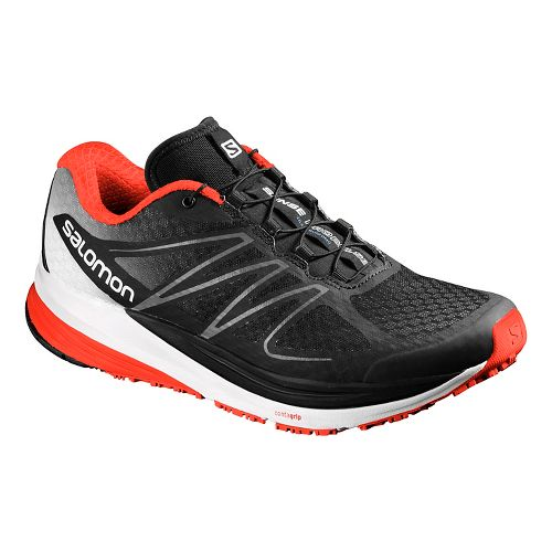 Mens Salomon Sense Propulse Trail Running Shoe - Black/White 10