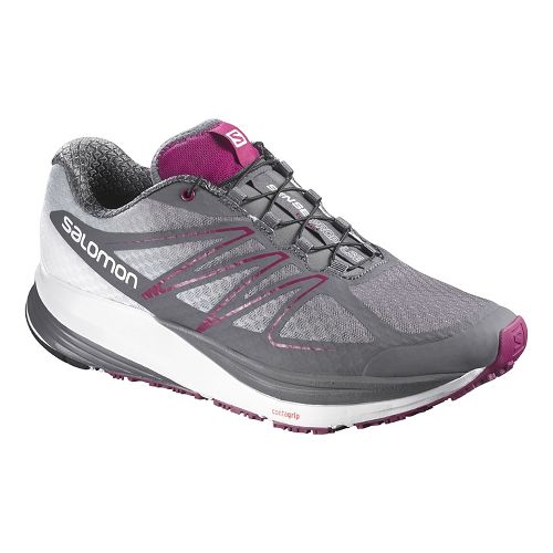 Womens Salomon Sense Propulse Trail Running Shoe - Grey/Purple 9.5