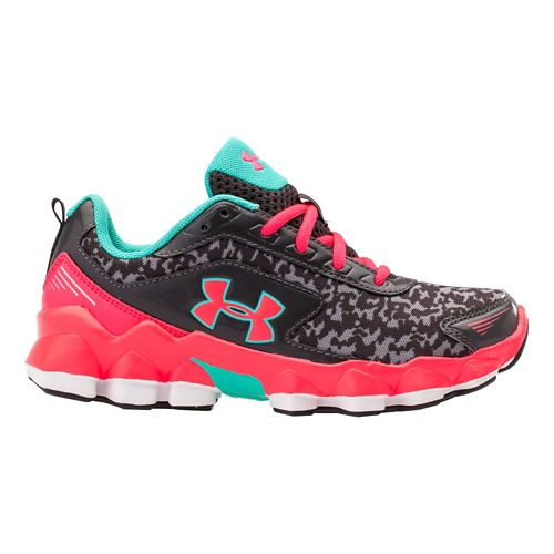 Kids Under Armour GPS Nitrous Running Shoe - Charcoal/Mosaic 13