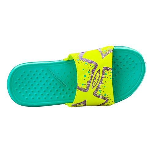 Kids Under Armour Strike Bliss Sandals Shoe - Mosaic/Yellow Ray 4