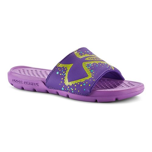 Kids Under Armour Strike Bliss Sandals Shoe - Exotic Bloom/Pride 13