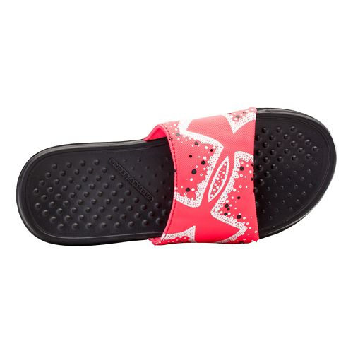 Kids Under Armour Strike Bliss Sandals Shoe - Black/Pink Shock 1