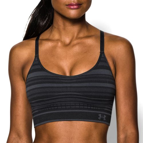 Womens Under Armour Seamless Stripe Sports Bras - Pink Shock L