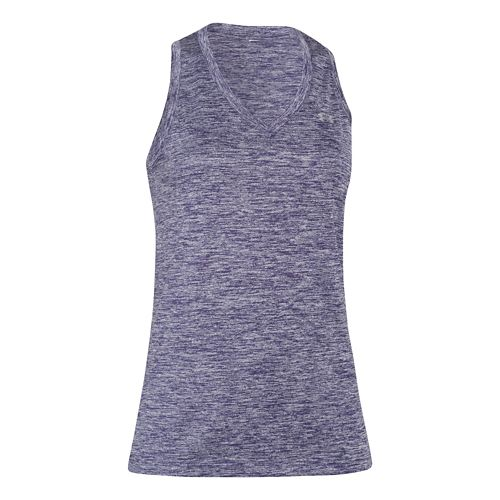Womens Under Armour Twisted Tech Tank Technical Tops - Faded Ink XL