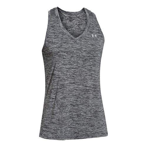 Womens Under Armour Twisted Tech Tank Technical Tops - Black L