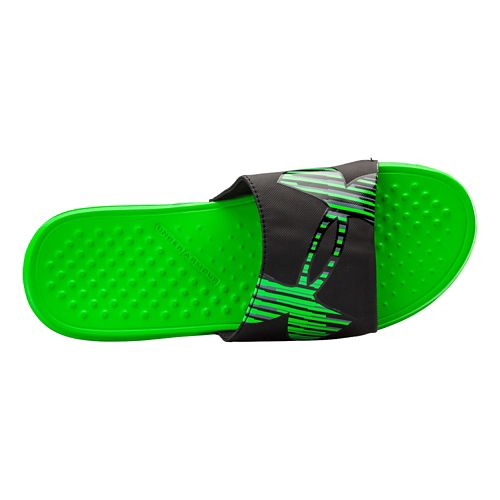 Mens Under Armour Strike Zag Sandals Shoe - Green Energy/Black 13