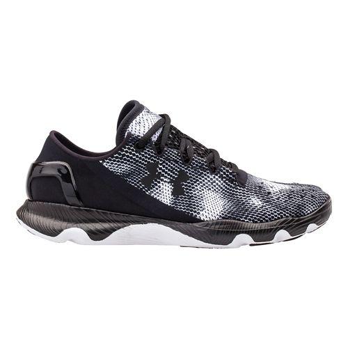 Kids Under Armour BGS SpeedForm Apollo Running Shoe - Black/White 7