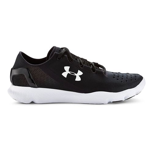 Kids Under Armour BGS SpeedForm Apollo Running Shoe - Black/Red 5