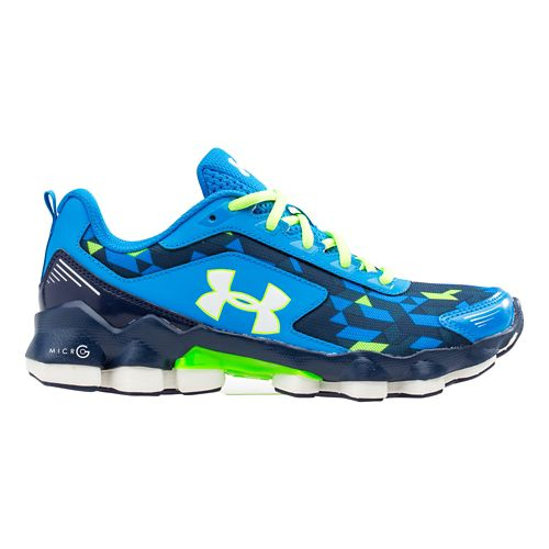 Kids Under Armour BGS Micro G Nitrous Running Shoe - Blue Jet/Blue Knight 7Y