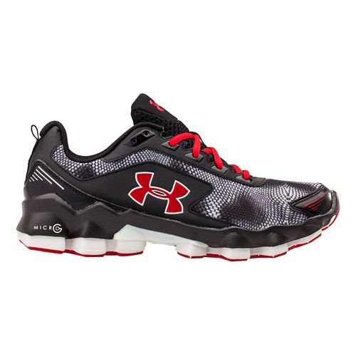Kids Under Armour BGS Micro G Nitrous Running Shoe - Black/Blue Jet 7