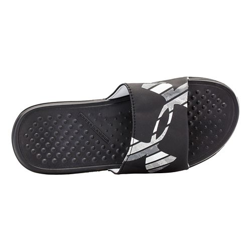 Kids Under Armour Strike Grid Sandals Shoe - Black/Graphite 2