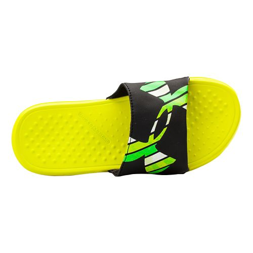 Kids Under Armour Strike Grid Sandals Shoe - Yellow Ray/Black 12