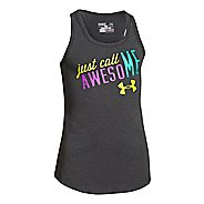 Kids Under Armour Just Call Me Awesome Tank Technical Tops