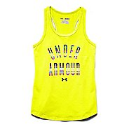 Kids Under Armour Strip Logo Tank Technical Tops