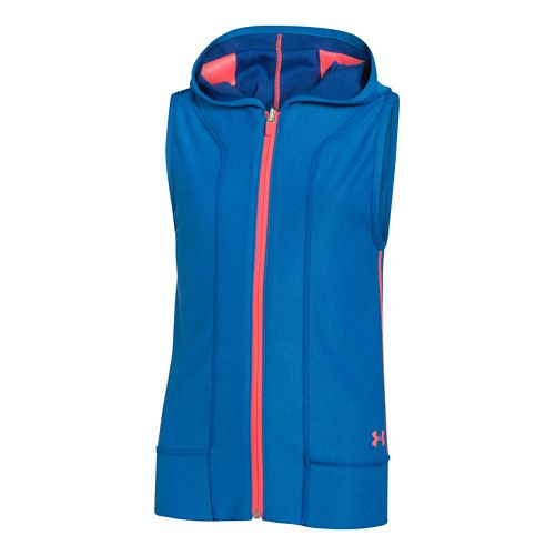 Kids Under Armour Inside Out Hoody Sleeveless Technical Tops - Evening/Snorkel YS