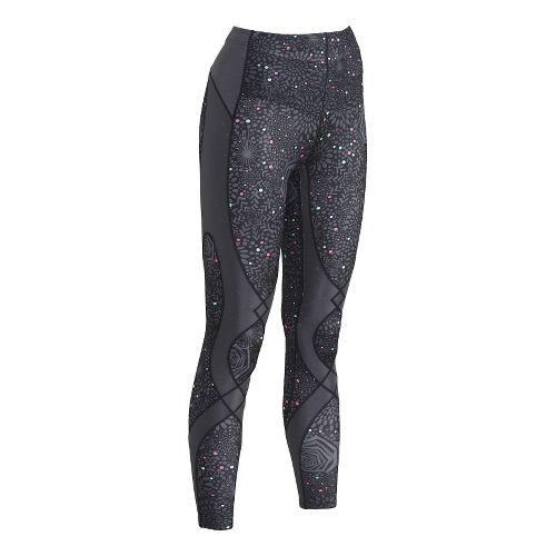 Womens CWX Stabilyx Printed Tights & Leggings - Grey Rose Print S