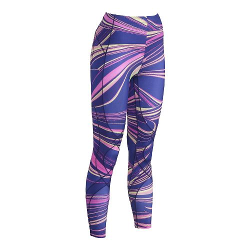 Womens CWX Stabilyx Printed Tights & Leggings - Purple/Pink M