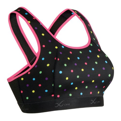 Womens CW-X Xtra Support Running III Print Sports Bra - Black/Polka Dot 38-DD