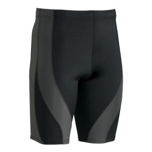 Mens CW-X PerformX Unlined Shorts - Black/Dark Grey L