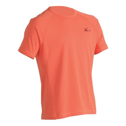 Mens CW-X Ventilator Mesh Top Short Sleeve Technical Tops - Orange M