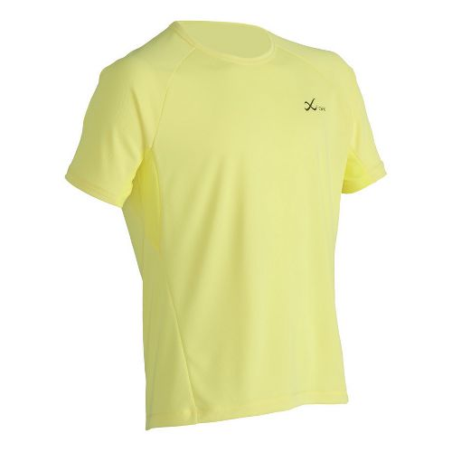 Mens CW-X Ventilator Mesh Top Short Sleeve Technical Tops - Yellow M