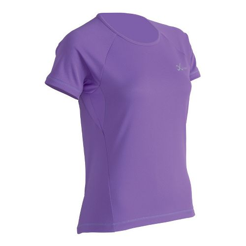Womens CW-X Ventilator Mesh Short Sleeve Technical Tops - Purple L