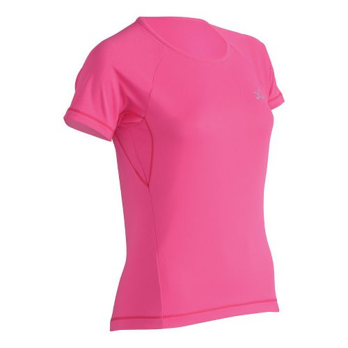 Womens CW-X Ventilator Mesh Short Sleeve Technical Tops - Pink M