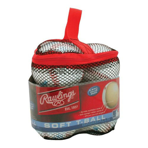 Rawlings 6 pack Bag of T-balls Fitness Equipment - White
