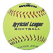 Worth 11 Yellow Softballs 4 Pack Fitness Equipment