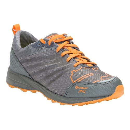 Mens Icebug Anima RB9X Trail Running Shoe - Grey/Marigold 7.5