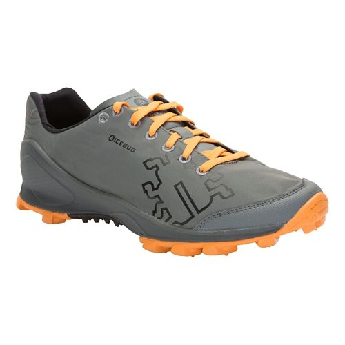 Mens Icebug Zeal RB9X Trail Running Shoe - Grey/Marigold 8.5