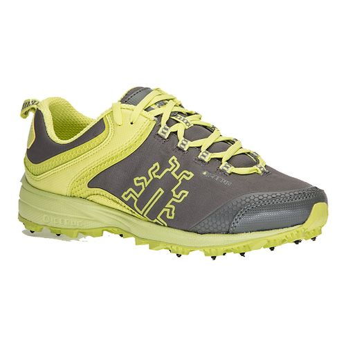 Mens Icebug Aurora BUGrip Trail Running Shoe - Grey/Poison 8.5