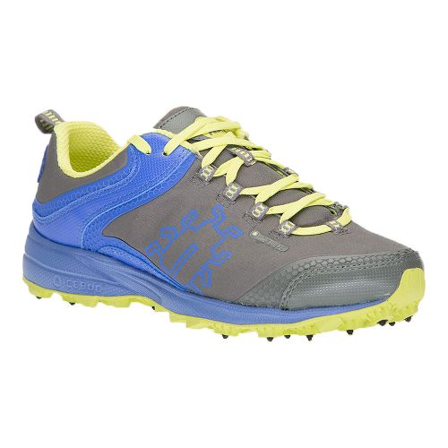 Womens Icebug Aurora BUGrip Trail Running Shoe - Grey/Amethyst 10.5