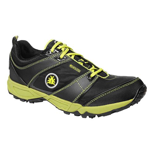 Mens Icebug Pytho2 BUGrip Trail Running Shoe - Black/Poison 9.5