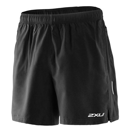 Mens 2XU Velocity Unlined Shorts - Black/Scarlet XXL