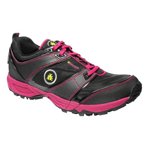 Womens Icebug Pytho2 BUGrip Trail Running Shoe - Black/Cherry 7.5