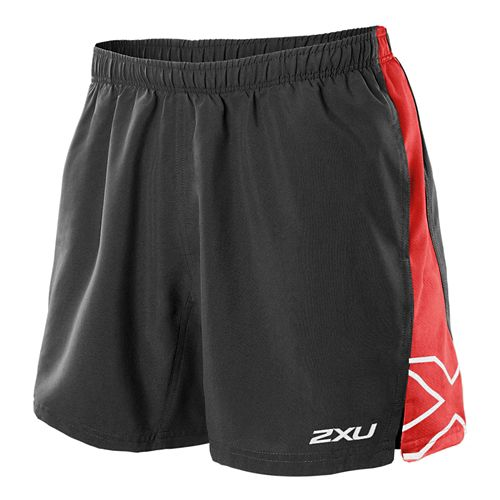 Mens 2XU X Movement Lined Shorts - Black/Scarlet S