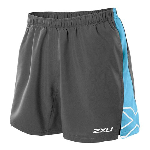 Mens 2XU X Movement Lined Shorts - Charcoal/Amalfi L