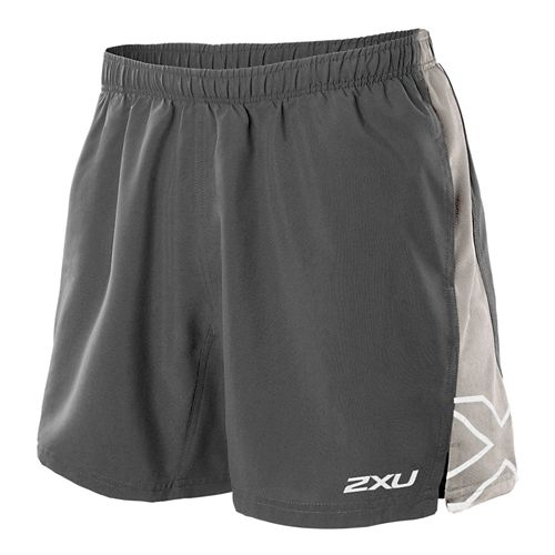 Mens 2XU X Movement Lined Shorts - Charcoal/Pebble Grey XL
