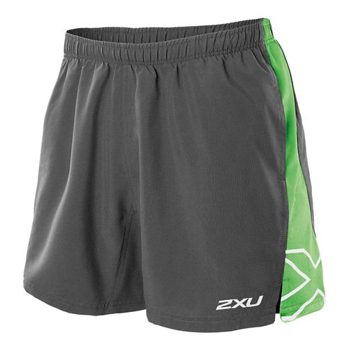 Mens 2XU X Movement Lined Shorts - Charcoal/Fairway L