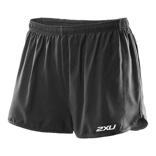 Mens 2XU Momentum Lined Shorts - Black/Black XL