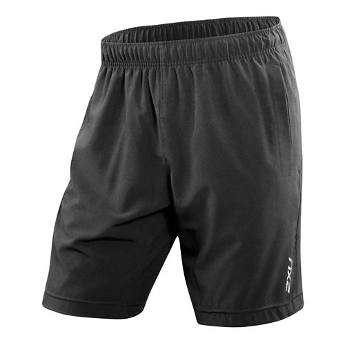 Mens 2XU Balance Lined Shorts - Black/Black L