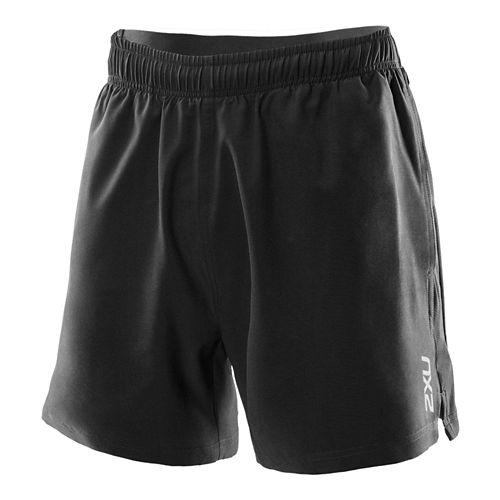 Mens 2XU Core Lined Shorts - Black/Black XL